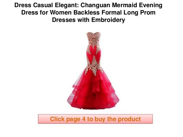 Mermaid Prom Dress Casual