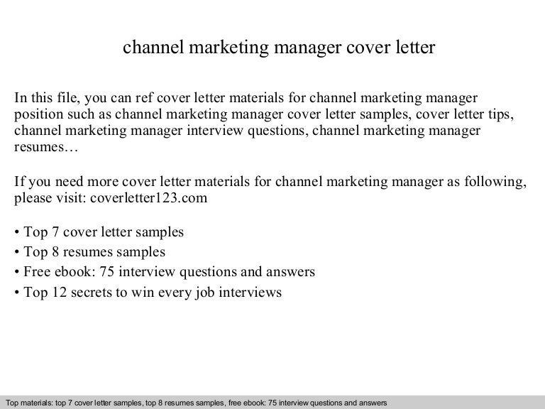 marketing manager cover letter examples