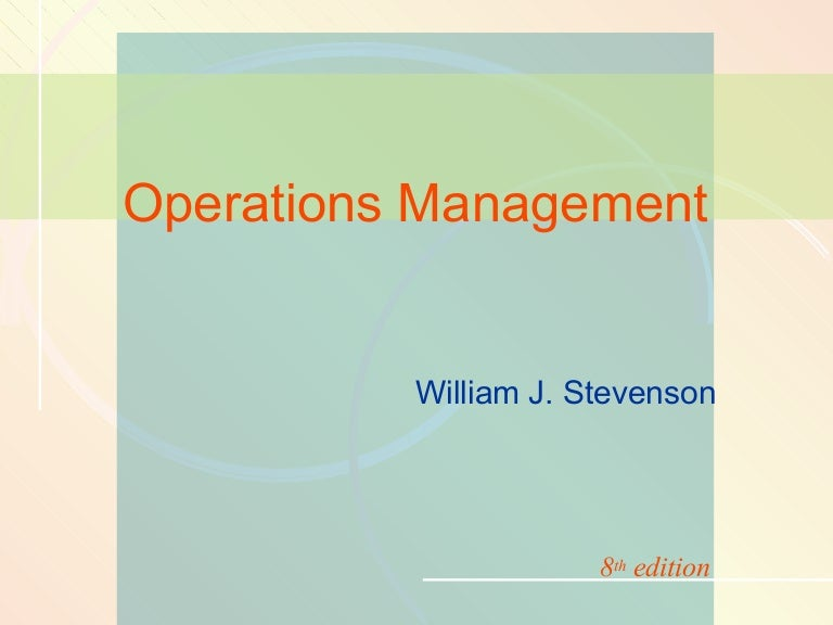 Production And Operations Management Stevenson Pdf