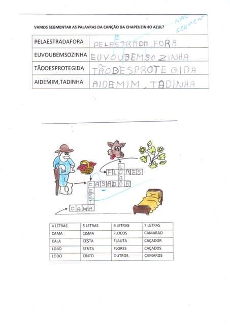 Chapeuzinh hipot escrita silab valor silab alfa dan