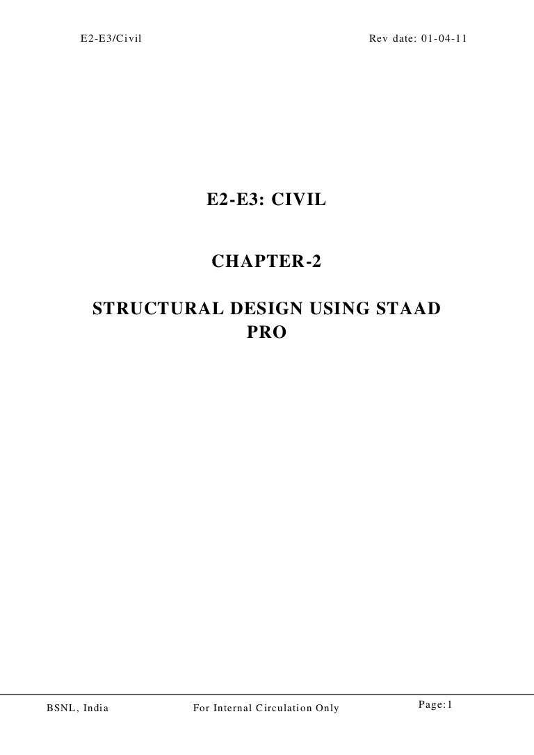 Chapter02structural design using staad pro