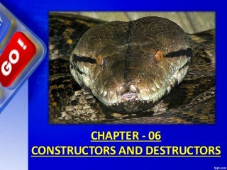 Chapter 06 constructors and destructors