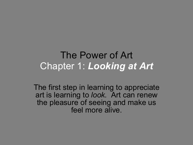 The Power Of Art Chapter 1