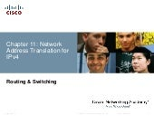 Chapter 11 - Network Address Translation for IPv4