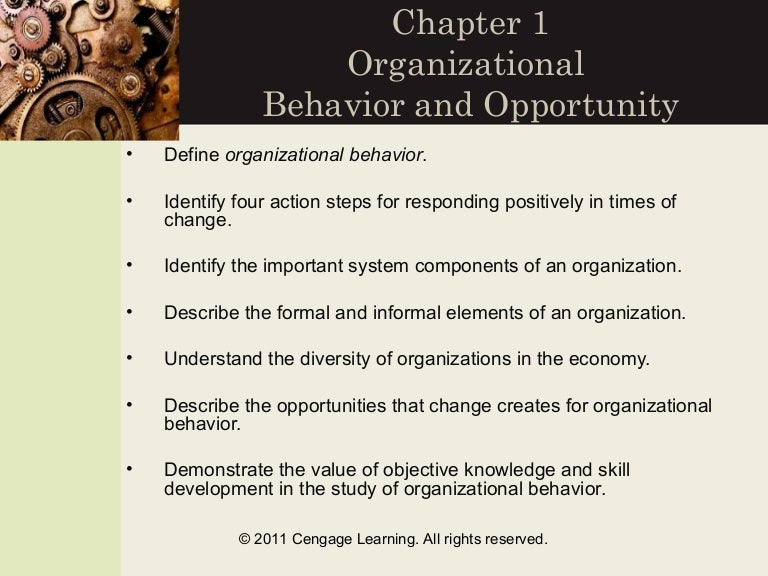 iibm semisternswers1organizational behaviour a Organizational behavior chapter 1 gwu andy cohen study play manager an individual who achieves goals through other people a field of study that investigates the impact that individuals, groups, and structure have on behavior within organizations, for the purpose of applying such.