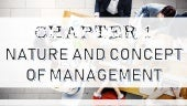 Chapter 1 The nature and concept of management