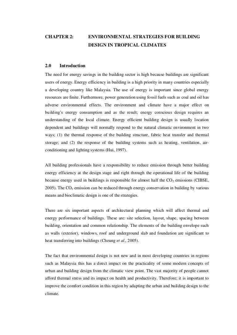Energy efficient building design strategies for hot climates construction essay