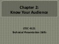 Chapter 2 - Know Your Audience