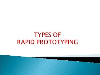 TYPES OF RAPID PROTOTYPING - ADDITIVE PROCESS