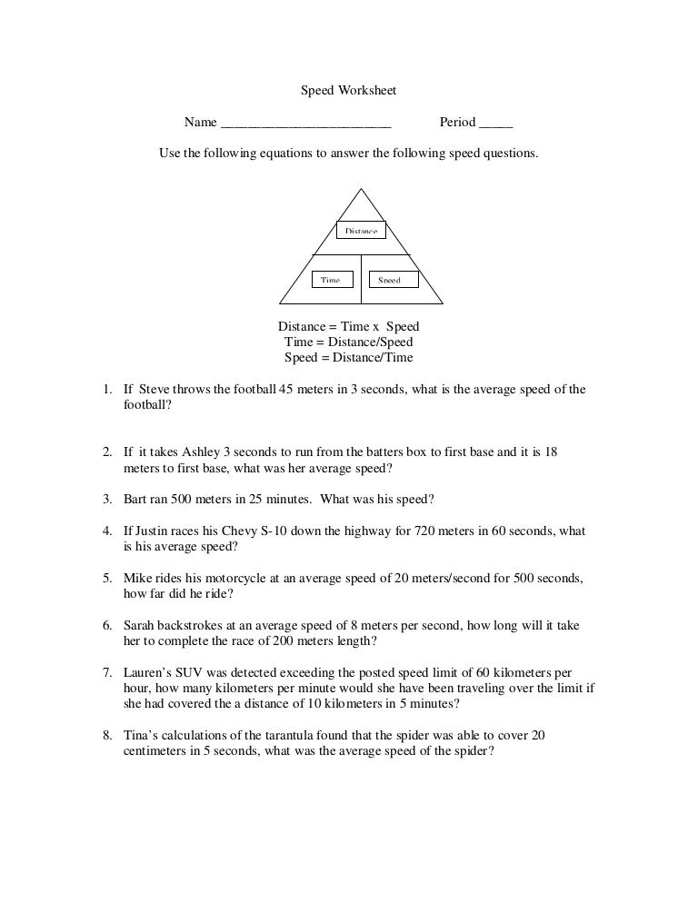 Chapter 2 Speed Worksheet