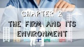 Chapter 2 the firm and its environment