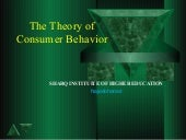 Chapter 3  theory of consumer behavior