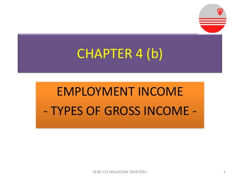 Chapter 4 B Employment Income