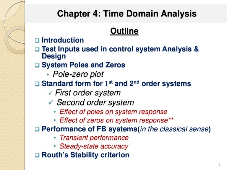 Chapter 4 Time Domain Analysis