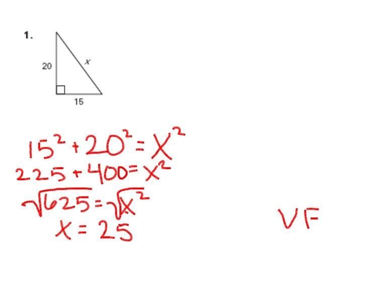 Geometry Chapter 7 Practice Test (B) P6