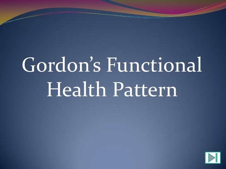 toddler functional health pattern assessment
