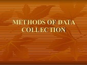 Chapter 9-METHODS OF DATA COLLECTION