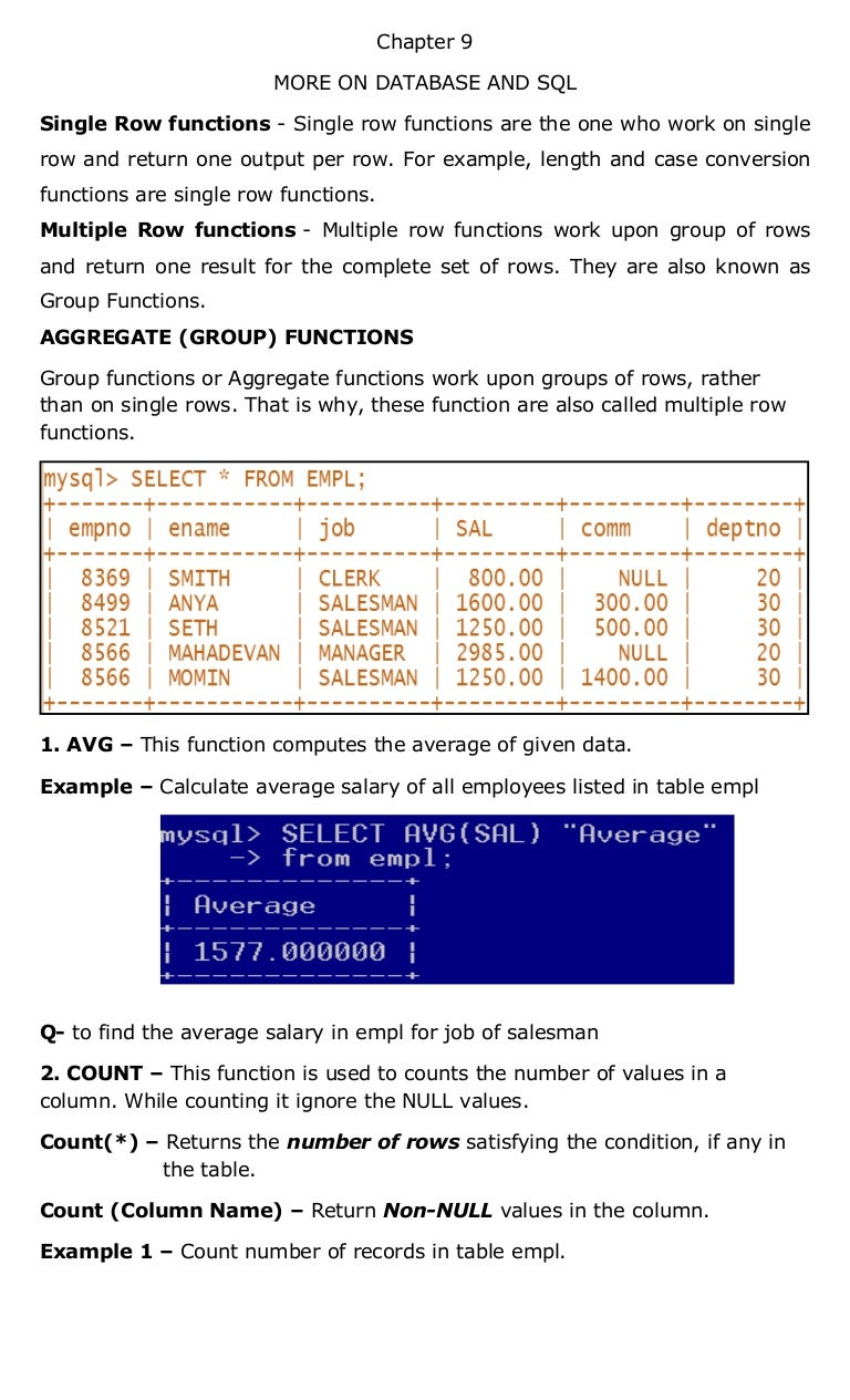 Chapter9 more on database and sql gamestrikefo Gallery