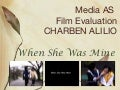 Charben Alilio- AS Media evaluation and research