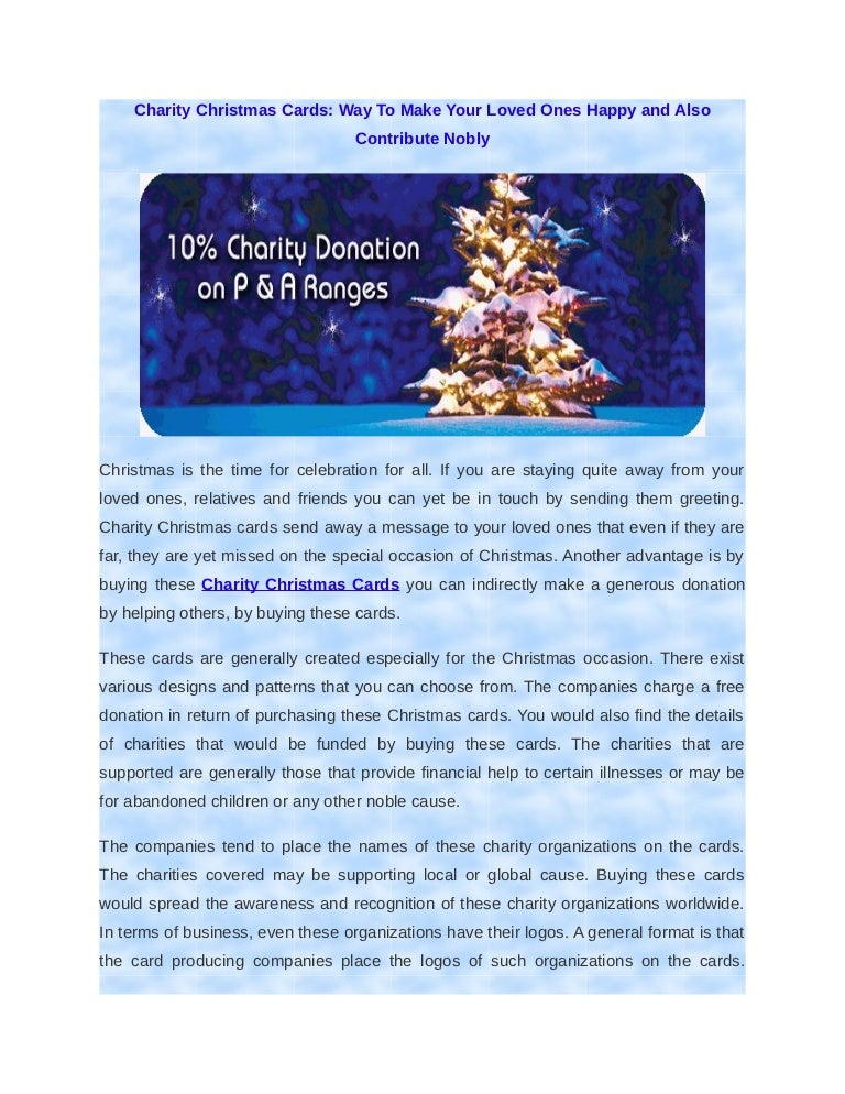Charity christmas cards way to make your loved ones happy and also c reheart Choice Image