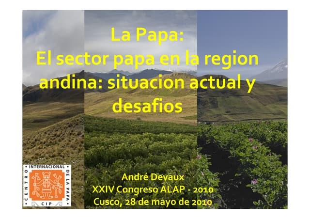 La Papa: El sector papa en la region andina: situacion actual y desafios