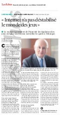 Charles COPPOLANI. President ARJEL. Interview_Les Echos. France