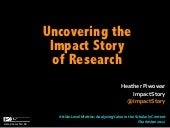 Short version: Uncovering the Impact Story of Research