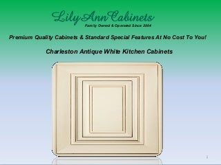 Charleston Antique White kitchen cabinets design, ideas by Lily Ann Cabinets