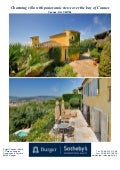 Charming Villa For Sale In Bay Of Cannes