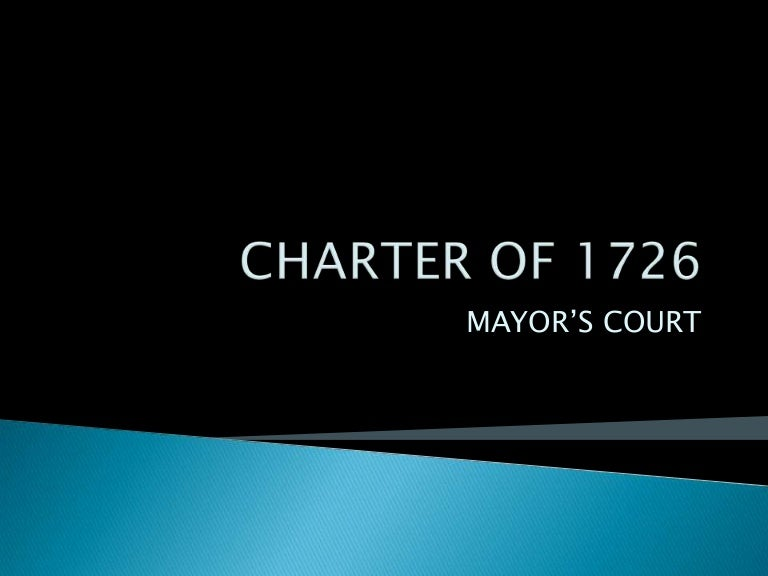 changes introduced by charter of 1753