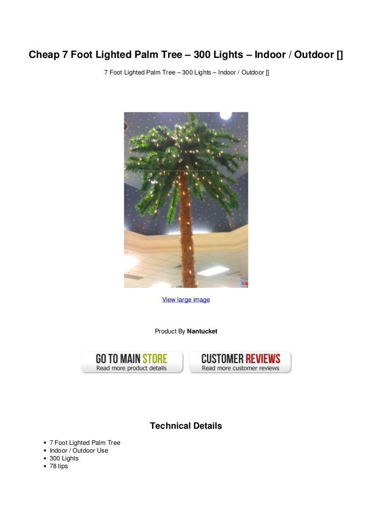 Cheap 7 Foot Lighted Palm Tree 300 Lights Indoor Outdoor