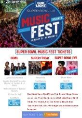 Discount Bud Light Super Bowl Music Fest 2019 Tickets