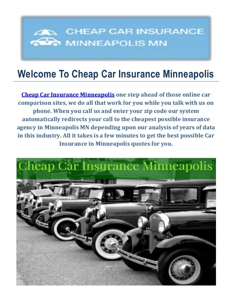 Cheap Car Insurance Quotes in Minneapolis, MN