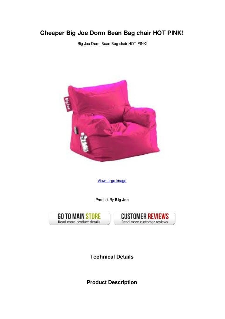 Cheaper Big Joe Dorm Bean Bag Chair Hot Pink