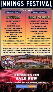 Cheap innings festival tickets and 2019 lineup