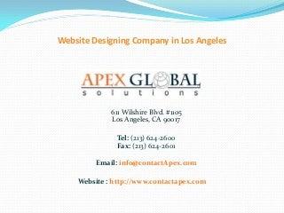 Website designing company in los angeles
