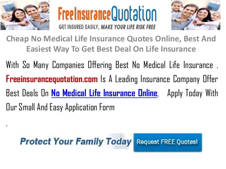 Cheap No Medical Life Insurance Quotes Online Best And Easiest Way T Extraordinary Affordable Life Insurance Quotes Online