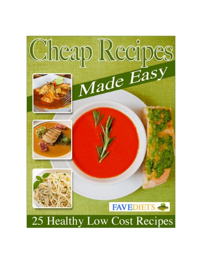 25 Healthy Low Cost Recipes Cheap Recipes Made Easy