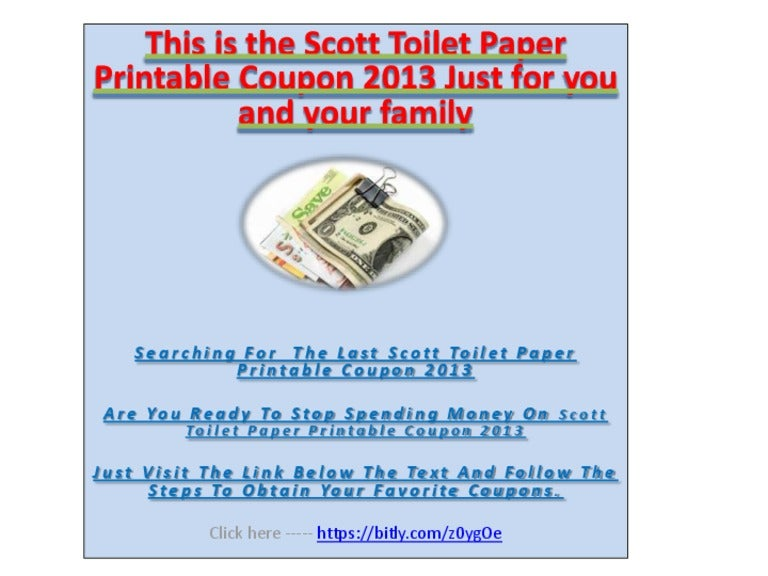image about Scott Printable Coupons identified as Reasonably priced Scott Rest room Paper Printable Discount coupons 2013 - Economical