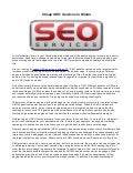 Cheap SEO services in Miami