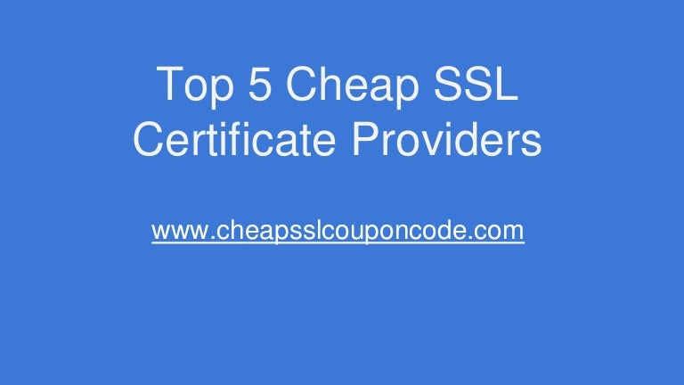 Cheap Ssl Certificate Providers