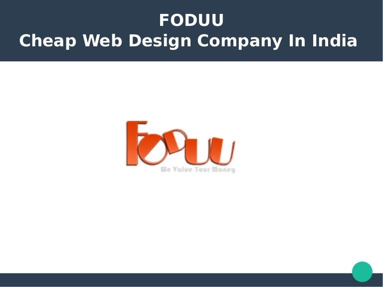 Cheap Web Design Company In India Foduu