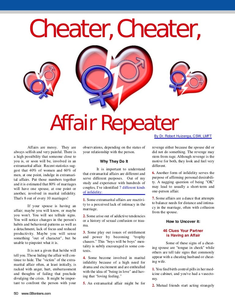 Cheater, Cheater: Affair Repeater