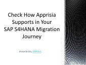 Check How Apprisia Supports in Your SAP S/4HANA Migration Journey