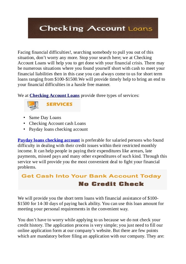 Cash Advance America Scam