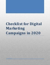 Checklist for Digital Marketing Campaigns in 2020