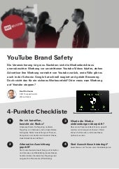 Checkliste Brand Safety (Youtube und Google Display-Netzwerk)