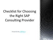 Checklist for Choosing the Right SAP Consulting Service Provider