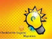 Checklist for Magento Migration