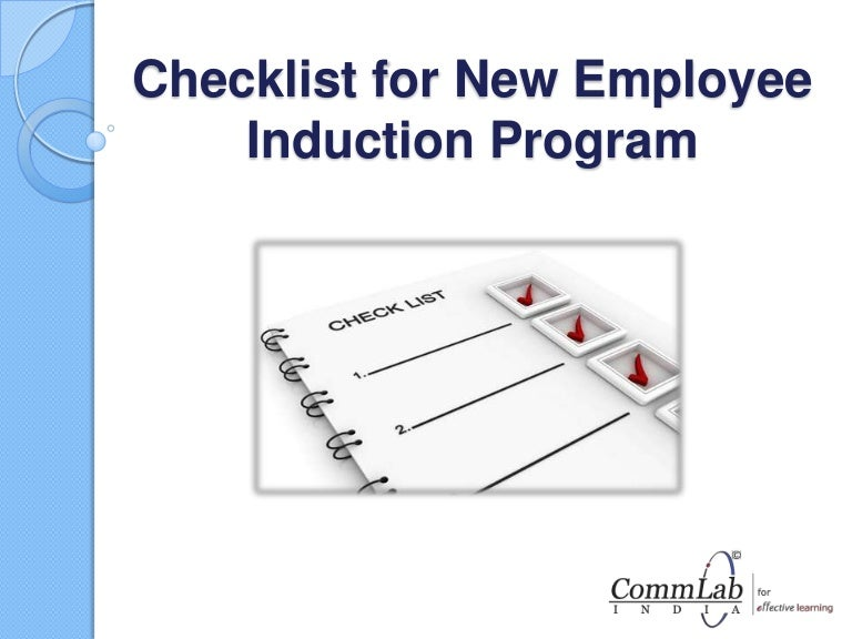 sample orientation checklist for new employee